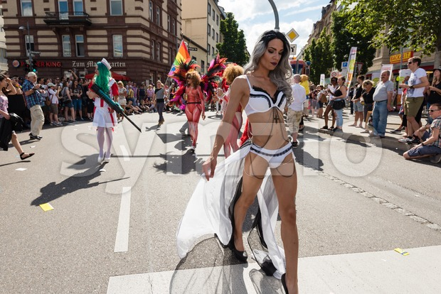 Christopher Street Day 2016 in Stuttgart, Germany Stock Photo