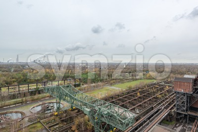 view from landschaftspark duisburg Stock Photo
