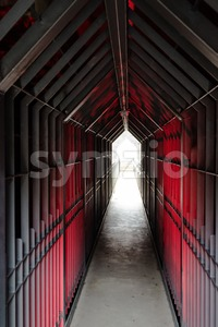 Mysterious dungeon tunnel Stock Photo