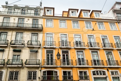 Typical Lisbon house facades Stock Photo