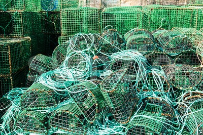 Traps for catching octopus and fish Stock Photo