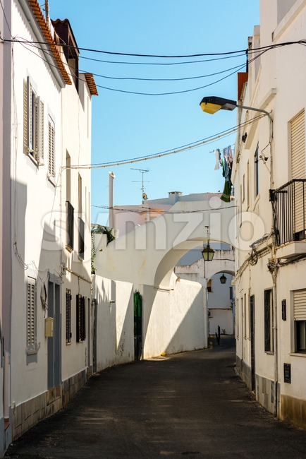 Narrow streets of Portugal Stock Photo