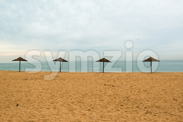 Lonely beach Stock Photo