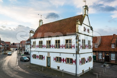 Old townhall of Schoeppingen in Muensterland, Germany Stock Photo