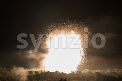 nuclear bomb like explosion Stock Photo