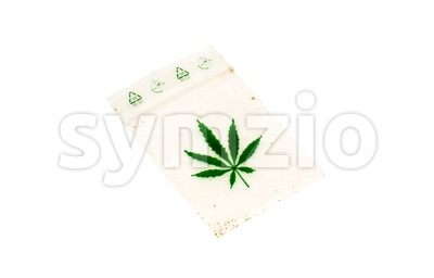 Empty bag of weed, Marijuana Stock Photo