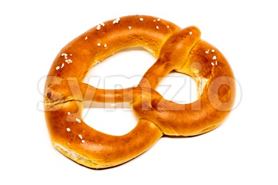 German pretzel (Bretzel) on white Stock Photo