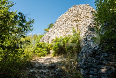 Ruins of castle in Swabian Alb Stock Photo