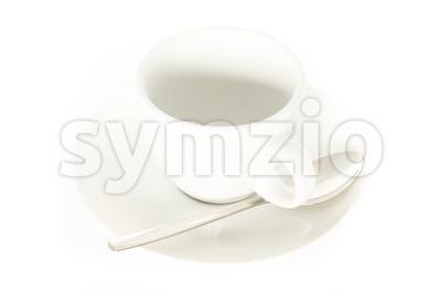 empty espresso cup on white Stock Photo