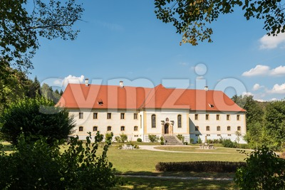 Palace Ehrenfels on Swabian Alb Stock Photo