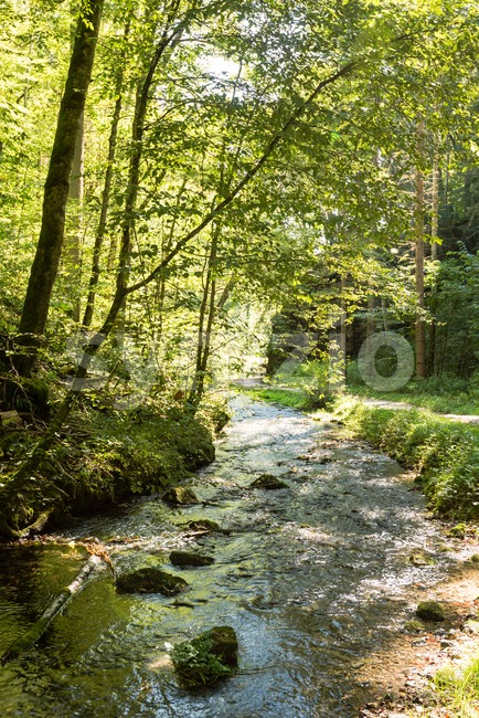 Beautiful landscape in Swabian Alb Stock Photo