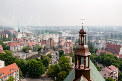 A top view of Stettin Stock Photo