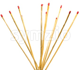 matches isolated on a white background Stock Photo