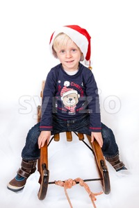 Cute boy in Christmas mood Stock Photo