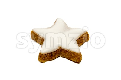 Cinnamon star cookie Stock Photo