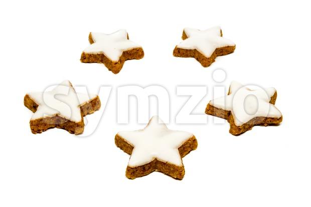 Cinnamon star cookies Stock Photo