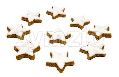 Cinnamon star cookies Stock Photo