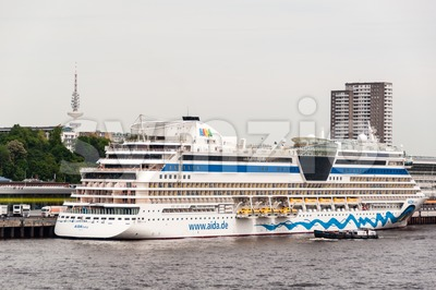 AIDAluna cruise ship is docked in Hamburg Stock Photo