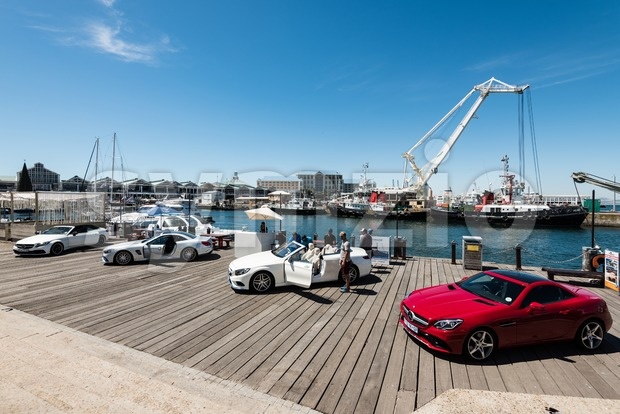 Mercedes Benz showcasing its cars on the V&A Waterfront in Cape Town Stock Photo