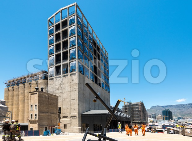 Construction site of the new Zeitz Museum of Contemporary Art of Africa in Cape Town Stock Photo