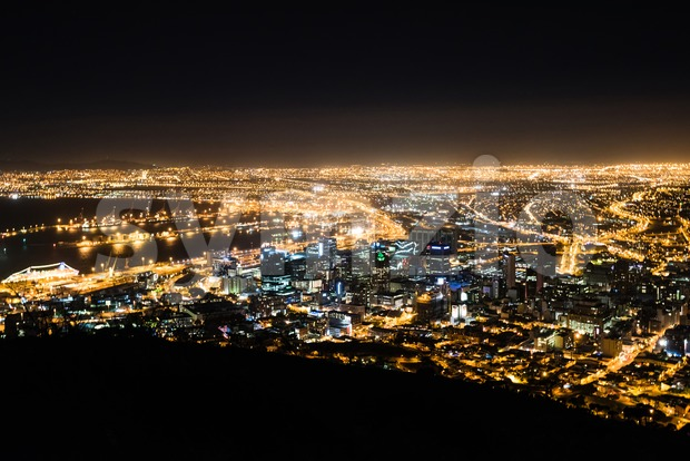 Cape Town city at night Stock Photo