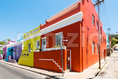 Colorful Bo-Kaap area of Cape Town Stock Photo