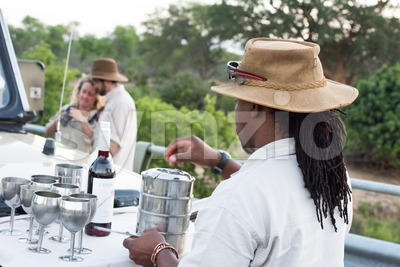 Sundowner in the Kruger National Park Stock Photo