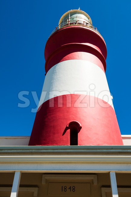 Lighthouse of Cape Agulhas (South Africa): The southernmost point of Africa.