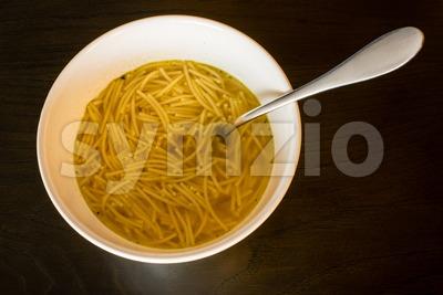 European noodle soup Stock Photo