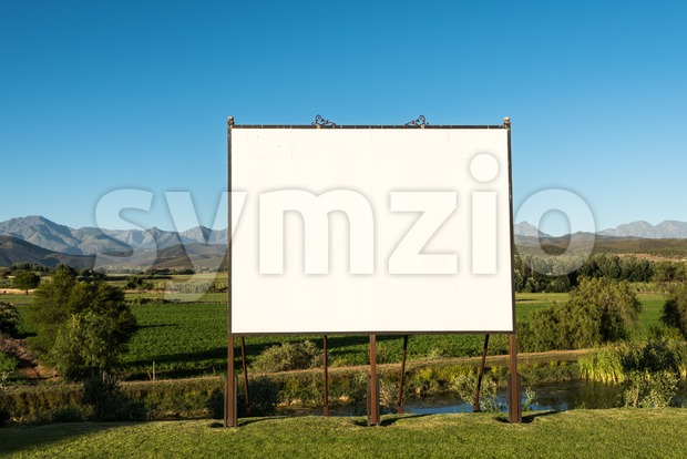 Large blank billboard in nice scenery Stock Photo