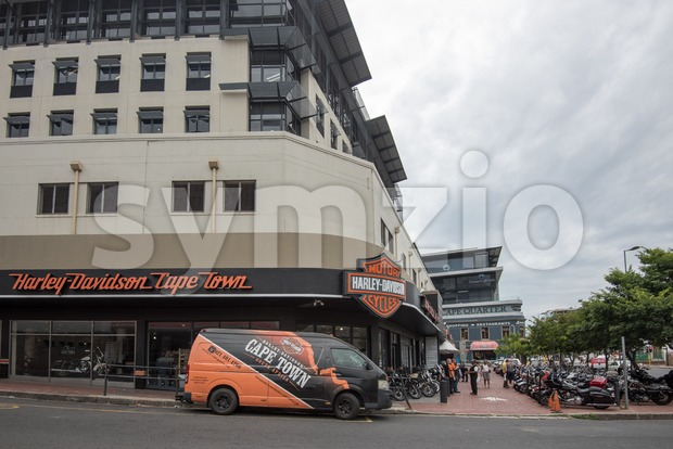 Cape Town, South Africa - November 22, 2016: The Harley Davidson store in the city centre of Cape Town, South ...