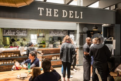 Inside The Deli of the Noordhoek Farm Village in South Africa Stock Photo