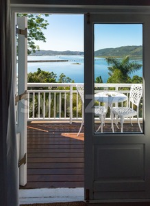 Room with a view over Knysna Stock Photo