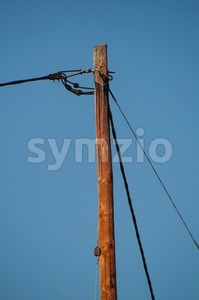 Telephone pole and wires Stock Photo