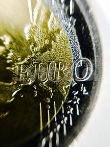 Closeup of EURO coin Stock Photo