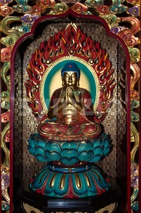 Chinese Buddha Statue, Buddhism. Stock Photo
