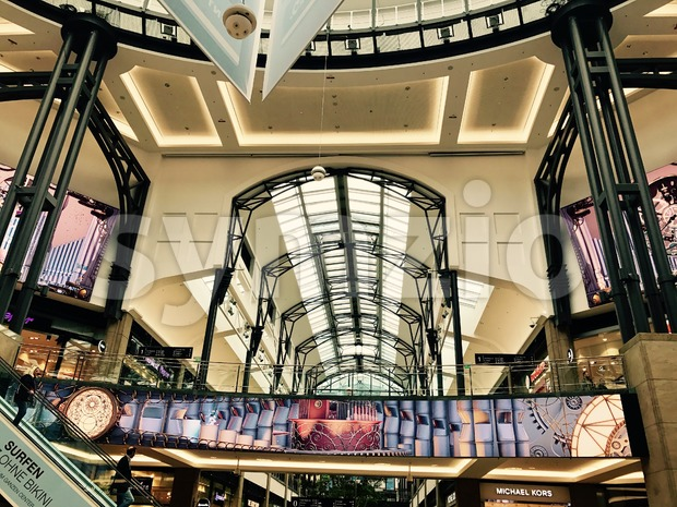 Oberhausen, Germany - March 17, 2017: Interior design of the Centro Shopping Mall in Oberhausen, Germany - one of the ...