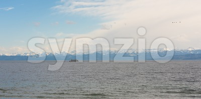 Beautiful panorama at Lake Constance Stock Photo