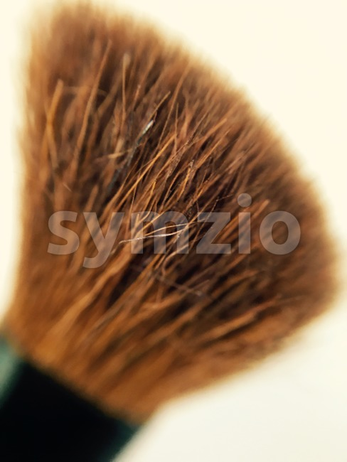 closeup of a make up brush Stock Photo