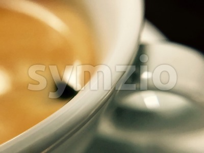 closeup of a cup of coffee Stock Photo