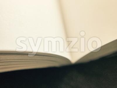 open book on dark table Stock Photo