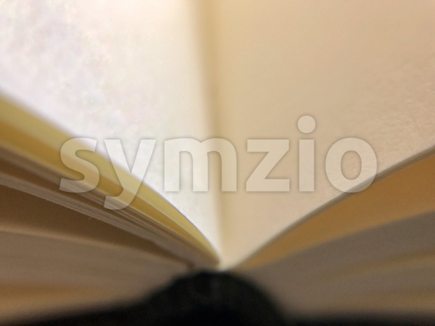 open book on dark table Stock Photo