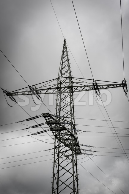 high voltage post Stock Photo