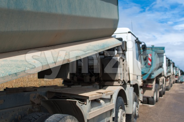 Dump Trucks Stock Photo