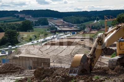 Highway Construction Stock Photo