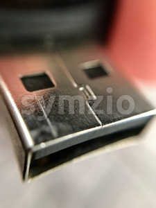 USB Stick Closeup Stock Photo