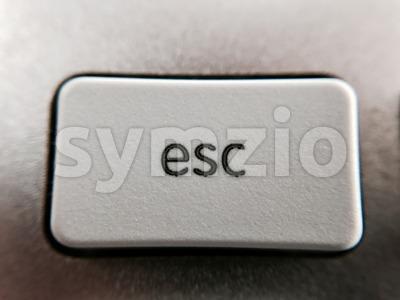 Closeup of esc key Stock Photo