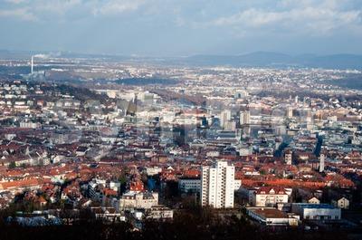 View on Stuttgart from Birkenkopf Stock Photo
