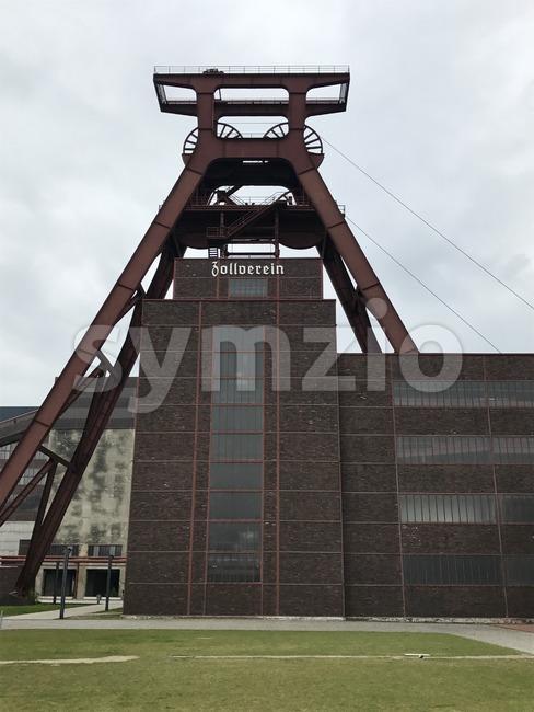 Shaft XII of Zeche Zollverein coal mine industrial complex and UNESCO world heritage in Essen, Germany