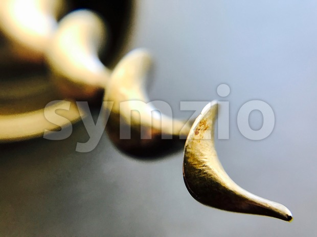 Closeup of a c ork screw Stock Photo